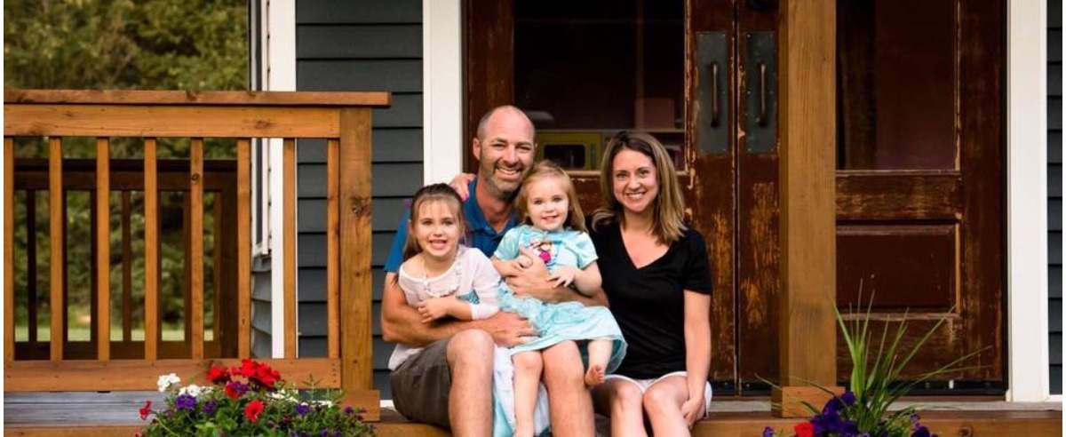 Adam Boyd z rodziną