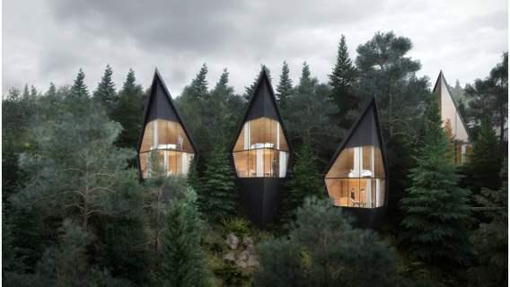 Domki w Dolomitach jak z bajki