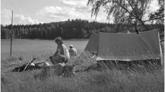 Wypoczynek letni na Mazurach, 1958 r.