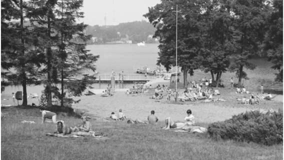 Wypoczynek w Łagowie, 1977 r.