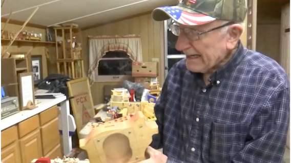 Jim Annis i jego pracownia drewnianych zabawek.