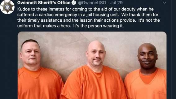 Troje więźniów uratowało oficera straży więziennej