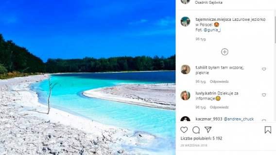 Polskie jezioro jak Malediwy
