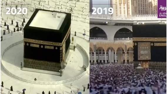 Coroczna masowa pielgrzymka (hadżdż) w Arabi Saudyjskiej