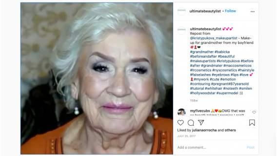 Makijaż, który zmienił wygląd 87-letniej kobiety. Niesamowita metamorfoza staruszki.