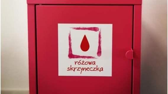 """""""Różowa Skrzyneczka"""" akcja wsparcia środków higienicznych dla kobiet"""