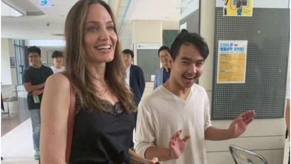 Angelina Jolie i jej syn Maddox