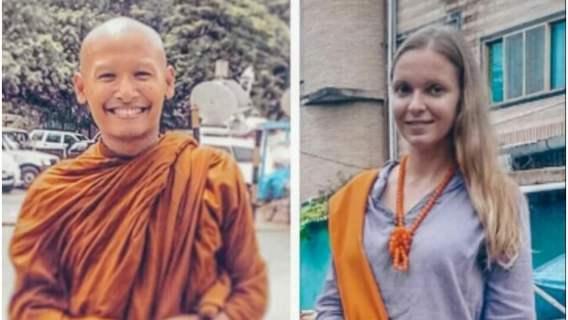 Zakochana kobieta i jej mąż buddyjski mnich