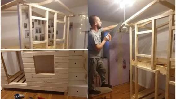 Tata wybudował domek dla swoich dzieci