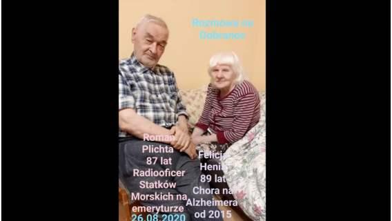 Choroba Alzheimera nie przerwała miłości pana Romana i jego żony
