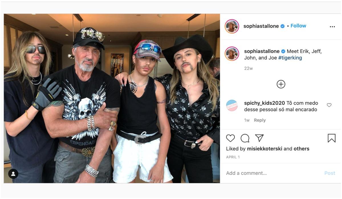 Sylvestrer Stallone z córkami