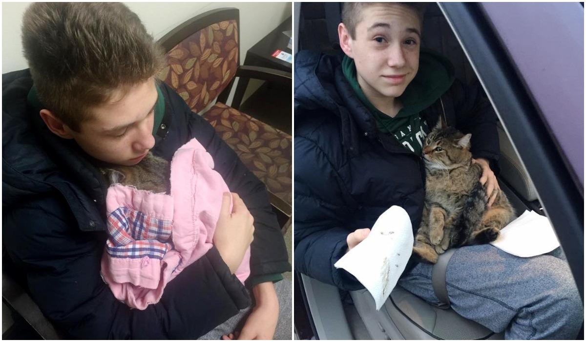 Nastolatek uratował kota
