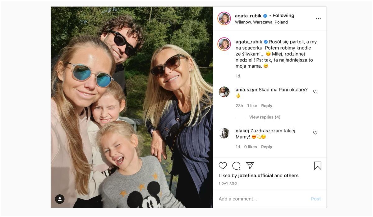 Agata Rubik pokazała zdjęcie z mamą