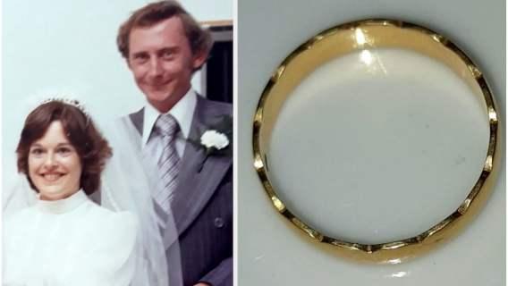 Zgubiła obrączkę zaraz po ślubie. Niewiarygodne, gdzie znalazła ją kilka dni przed 40. rocznicą