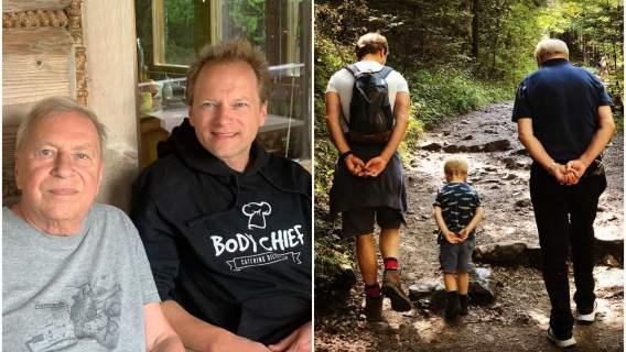 Maciej Stuhr opublikował zdjęcie z ojcem i synem