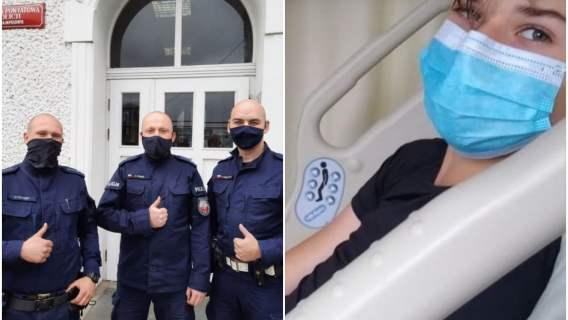 Policjanci ogolili głowy dla Tymka