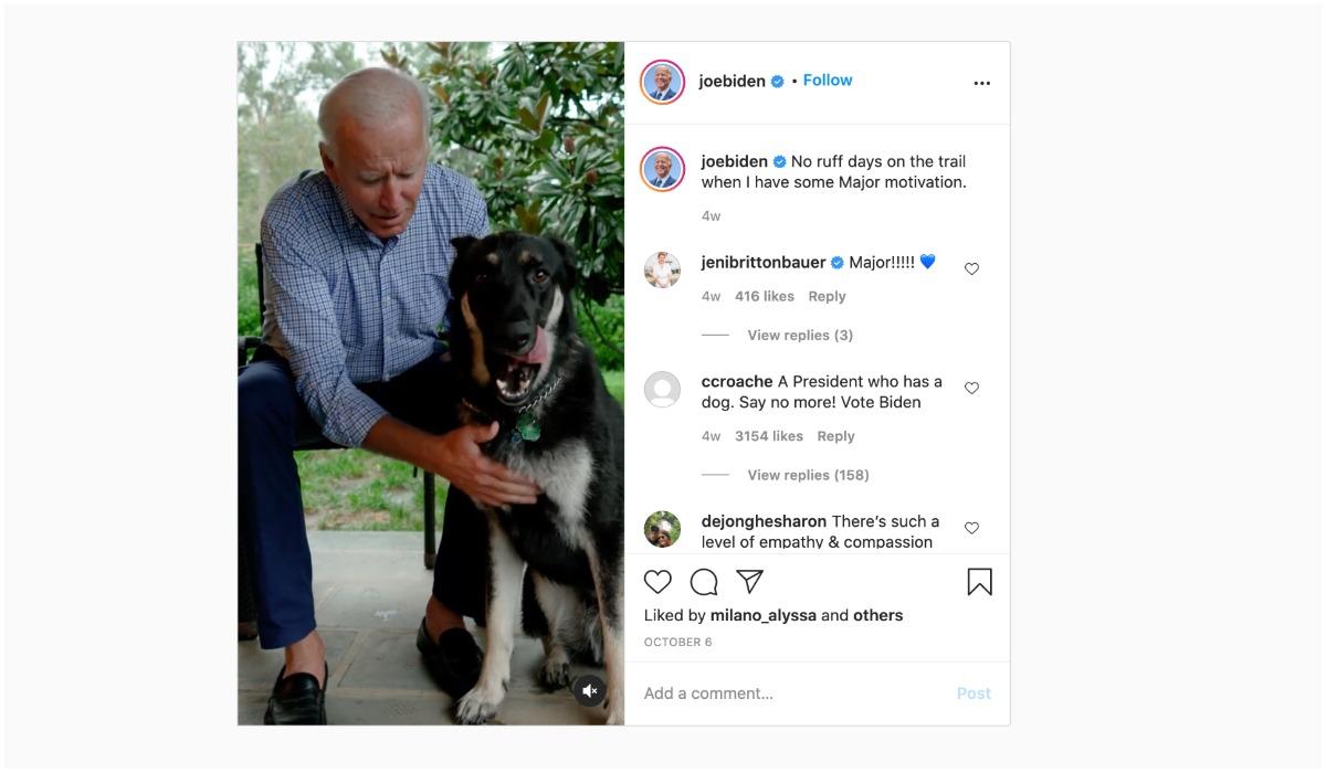 Joe Biden i jego pies