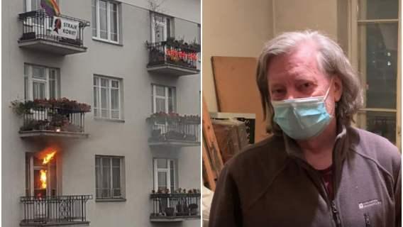 Poruszające słowa właściciela spalonego mieszkania. Jego lokal został podpalony podczas Marszu Niepodległości