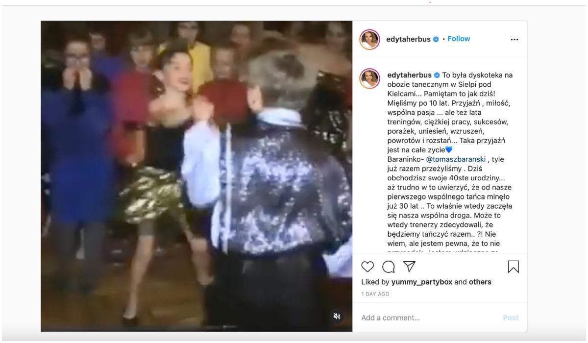 Edyta Herbuś umieściła nagranie na swoim Instagramie