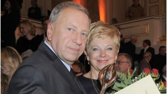 Jerzy Stuhr z żoną